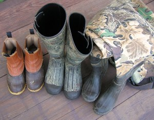 Hunters quiz question: Choosing footwear for a woodcock hunt where locals say the marshes are all dry.  this year. What is your decision?