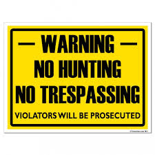No hunting sign (2)